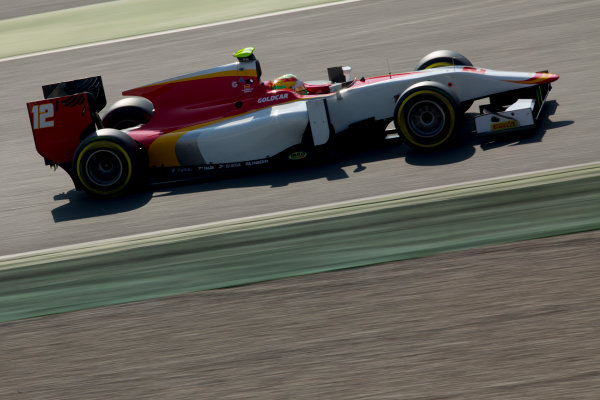 Circuit de Barcelona Catalunya, Barcelona, Spain. Wednesday 15 March 2017. Roberto Merhi (ESP, Campos Racing). Action.  Photo: Alastair Staley/FIA Formula 2 ref: Digital Image 585A9345