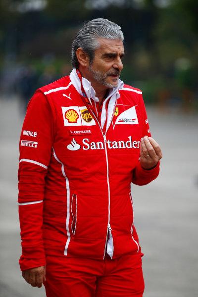 Shanghai International Circuit, Shanghai, China.  Sunday 09 April 2017. Maurizio Arrivabene, Team Principal, Ferrari.  World Copyright: Andy Hone/LAT Images ref: Digital Image _ONZ5543