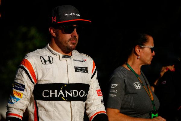 Sepang International Circuit, Sepang, Malaysia. Saturday 30 September 2017. Fernando Alonso, McLaren. World Copyright: Andrew Hone/LAT Images  ref: Digital Image _ONZ9770