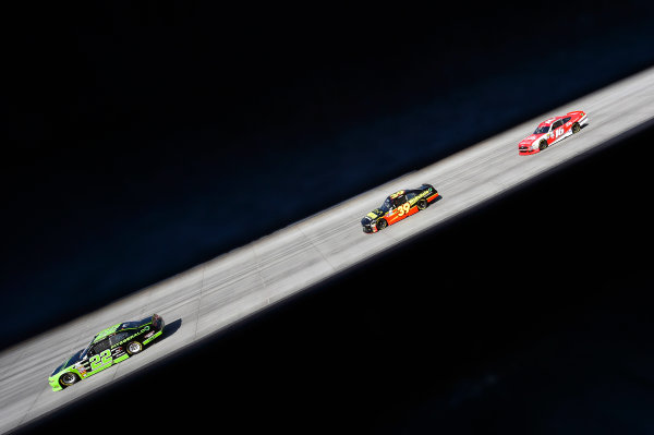 NASCAR XFINITY Series Use Your Melon Drive Sober 200 Dover International Speedway, Dover, DE USA Saturday 30 September 2017 Ryan Blaney, Fitzgerald Ford Mustang, Ryan Sieg, RSS Racing Chevrolet Camaro and Ryan Reed, Lilly Diabetes Ford Mustang World Copyright: Nigel Kinrade LAT Images