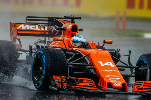 Suzuka Circuit, Japan. Friday 06 October 2017. Fernando Alonso, McLaren MCL32 Honda.  World Copyright: Steven Tee/LAT Images  ref: Digital Image _R3I6819