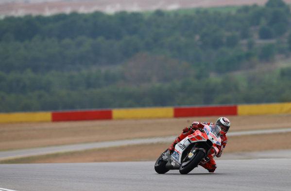 2017 MotoGP Championship - Round 14 Aragon, Spain. Friday 22 September 2017 Jorge Lorenzo, Ducati Team World Copyright: Gold and Goose / LAT Images ref: Digital Image 693582