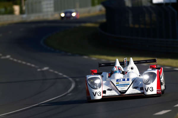2014 Le Mans 24 Hours. Circuit de la Sarthe, Le Mans, France. Thursday 12 June 2014. Thomas Kimber-Smith (GBR), Chris Dyson (USA), Matthew McMurray (USA) - Greaves Motorsport, Zytek Z11SN-Nissan  Photo: Sam Bloxham/LAT ref: Digital Image _SBL8387