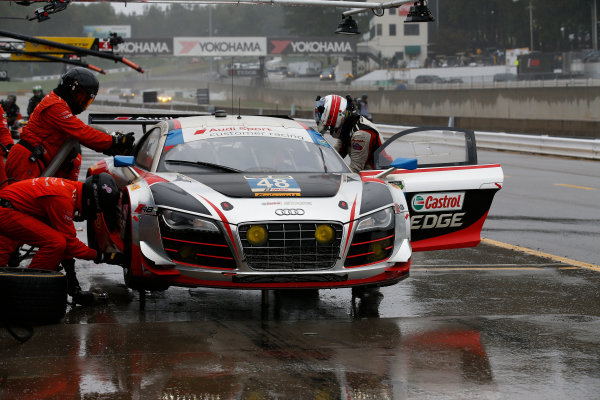 1-3 October, 2015, Braselton, Georgia USA , 48, Audi, R8 LMS, GTD, Christopher Haase, Dion von Moltke, Bryce Miller, pit stop ?2015, Michael L. Levitt LAT Photo USA