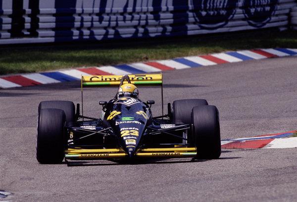 1988 German Grand Prix.Hockenheim, Germany.22-24 July 1988. Pierluigi Martini (Minardi M188 Ford).Ref-88 GER 20.World Copyright - LAT Photographic