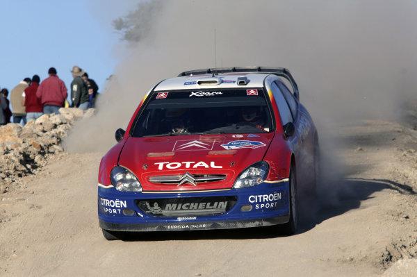 2004 FIA World Rally Champs. Round three, Corona Rally Mexico.11th-14th March 2004.Carlos Sainz, Citroen, action.World Copyright: McKlein/LAT