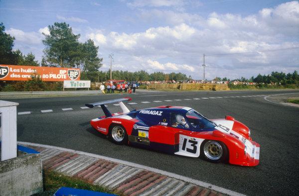 Le Mans, France. 15th -16th  June 1985.Yves Courage/Alain de Cadenet/Jean-Franois Yvon (Cougar C12 Porsche), 20th position, action. World Copyright: LAT Photographic.Ref:  85LM38