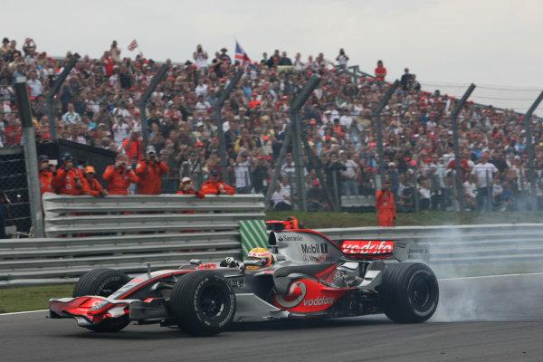 Round 8, Brands Hatch, Germany. 29th - 31st August 2008.Lewis Hamilton (GBR), McLaren Mercedes, Demo RunWorld Copyright: Hone/xpb cc/LATref: Digital Image Only