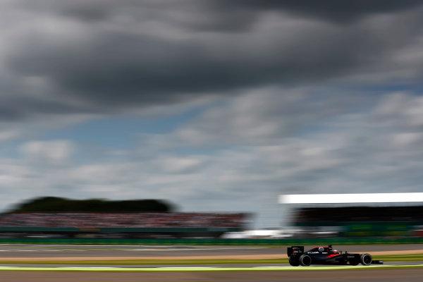 Silverstone, Northamptonshire, UK Friday 08 July 2016. Fernando Alonso, McLaren MP4-31 Honda. World Copyright: Glenn Dunbar/LAT Photographic ref: Digital Image _V2I7017