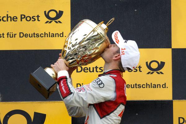 2017 DTM Round 1 Hockenheim, Germany. Sunday 7 May 2017. Podium: Race winner Jamie Green, Audi Sport Team Rosberg, Audi RS 5 DTM World Copyright: Alexander Trienitz/LAT Images ref: Digital Image 2017-DTM-R1-HH-AT1-3704