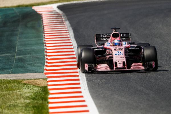 Circuit de Catalunya, Barcelona, Spain. Saturday 13 May 2017. Sergio Perez, Force India VJM10 Mercedes. World Copyright: Steven Tee/LAT Images ref: Digital Image _O3I4675
