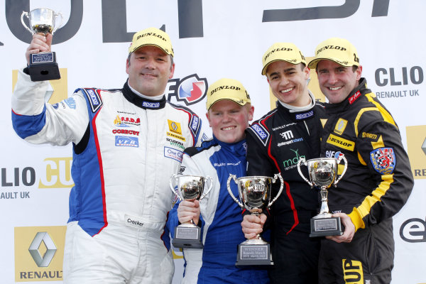 2013 Renault Clio Cup, Brands Hatch, Kent, 30th-, Podium World copyright: Jakob Ebrey/LAT Photographic