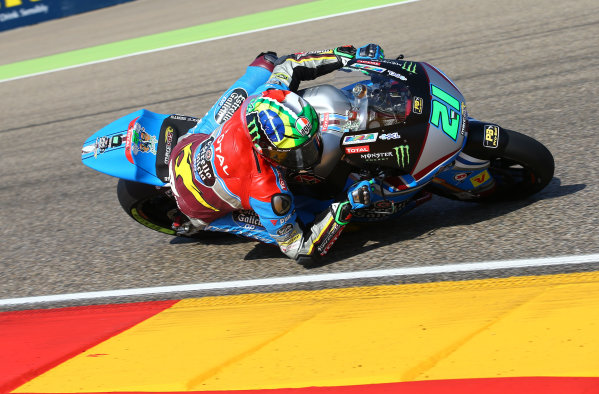 2017 Moto2 Championship - Round 14 Aragon, Spain. Saturday 23 September 2017 Franco Morbidelli, Marc VDS World Copyright: Gold and Goose / LAT Images ref: Digital Image 694248