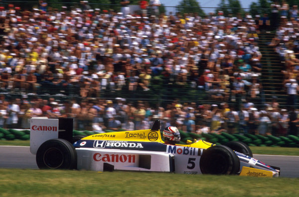 Montreal, Quebec, Canada.13-15 June 1986.Nigel Mansell (Williams FW11 Honda) 1st position.Ref-86 CAN 06.World Copyright - LAT Photographic