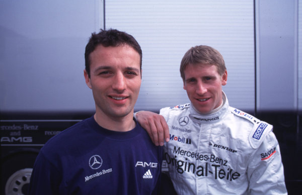 Daren Turner and Peter Dumbreck - Portrait.DTM Testing - Oschersleben, 16th April 2000.Five weeks before the start of the season, Four Mercedes-Benz CLK DTM and four Opel Astra VS Coupe, took part in the first major test at Oschersleben.World - Griffiths/LAT