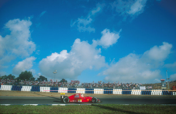 1990 Spanish Grand Prix.Jerez, Spain.28-30 September 1990.Nigel Mansell (Ferrari 641) 2nd position.Ref-90 ESP 21.World Copyright - LAT Photographic
