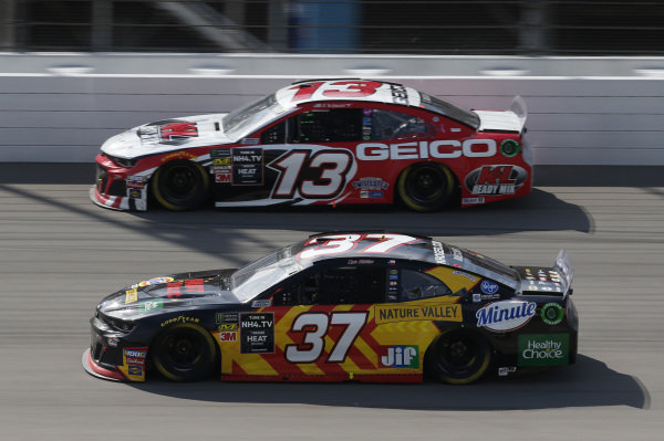 #37: Chris Buescher, JTG Daugherty Racing, Chevrolet Camaro Kroger Fast Start #13: Ty Dillon, Germain Racing, Chevrolet Camaro K&L Ready Mix