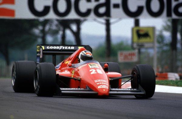 1986 San Marino Grand Prix.Imola, Italy.25-27 April 1986.Stefan Johansson (Ferrari F186) 4th position.World Copyright - LAT Photographic