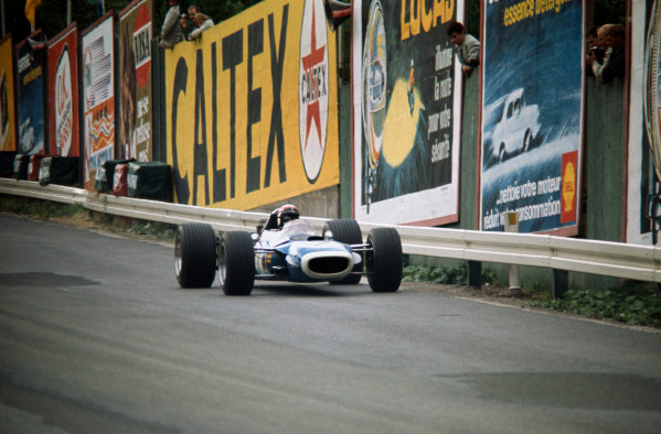 Spa-Francorchamps, Belgium.  7-9 June 1968.  Jackie Stewart (Matra MS10-Ford) 4th position, action.  Ref-68 BEL 09.  World Copyright - LAT Photographic