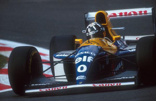 1993 Belgian Grand Prix.Spa-Francorchamps, Belgium.27-29 August 1993.Damon Hill (Williams FW15C Renault) 1st position.Ref-93 BEL 09.World Copyright - LAT Photographic