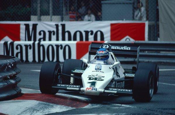 1983 Monaco Grand Prix.Monte Carlo, Monaco.12-15 May 1983.Keke Rosberg (Williams FW08C Ford) 1st position at the exit of swimming pool.Ref-83 MON 12.World Copyright - LAT Photographic