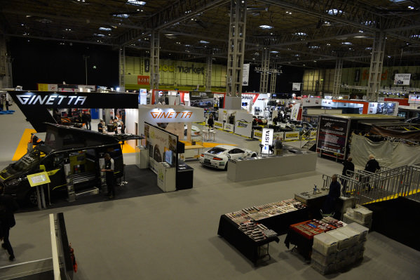 An overview of the Ginetta stand.