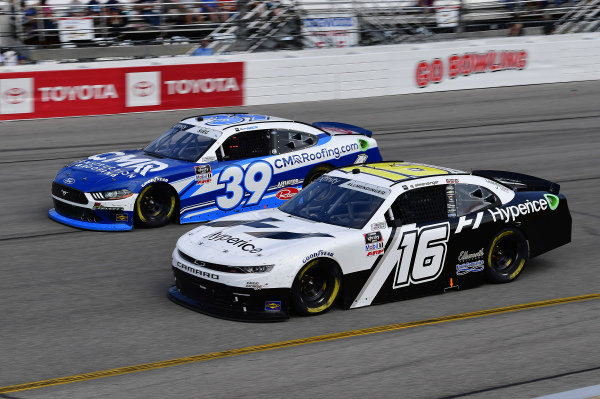 #16: A.J. Allmendinger, Kaulig Racing, Chevrolet Camaro Hyperice, #39: Ryan Sieg, RSS Racing, Ford Mustang CMR Construction and Roofing / A-Game