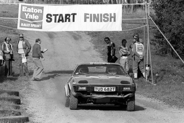 Alan Jones (AUS)  takes part in the rally stage section of the Eaton Yale Rally Sprint challenge in a Triumph TR7.