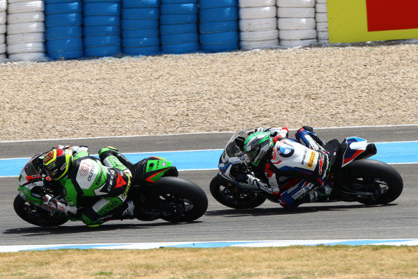 Sandro Cortese, Outdo Kawasaki TPR, Eugene Laverty, BMW Motorrad WorldSBK Team.