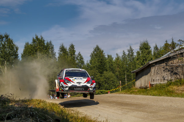 Ott Tanak putting on a great show on Rally Finland 2018