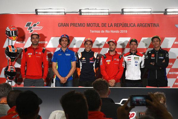 Danilo Petrucci, Ducati Team, Alex Rins, Team Suzuki MotoGP, Marc Marquez, Repsol Honda Team, Andrea Dovizioso, Ducati Team, Cal Crutchlow, Team LCR Honda, Valentino Rossi, Yamaha Factory Racing.