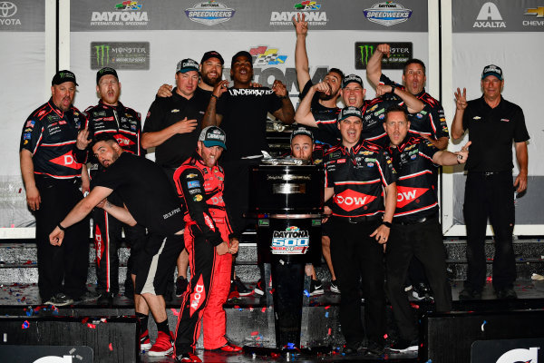 Monster Energy NASCAR Cup Series Daytona 500 Daytona International Speedway, Daytona Beach, FL USA Sunday 18 February 2018 Austin Dillon, Richard Childress Racing, Dow Chevrolet Camaro and team celebrate in victory lane World Copyright: Logan Whitton LAT Images
