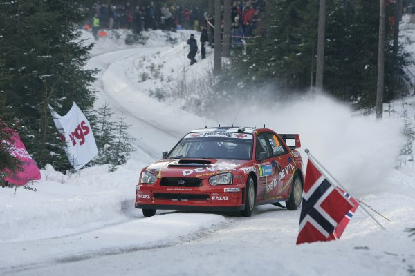 2006 FIA World Rally Champs. Round two Swedish Rally.2nd-5th February 2006.Kristian Sohlberg, Subaru, action.World Copyright: McKlein/LAT