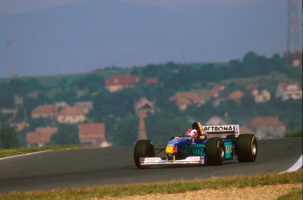 Hungaroring, Hungary.8-10 August 1997.Johnny Herbert (Sauber C16 Petronas Ferrari) 3rd position.Ref-97 HUN 18.World  Copyright - LAT Photographic