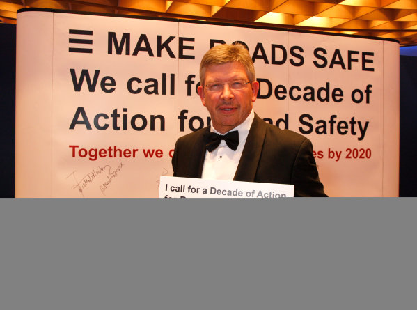 Monaco, 11th December 2009.Brawn GP Team Principal Ross Brawn adds his name to the Decade of Action for Road Safety campaign.Copyright Free for Editorial Use Only, Credit FIAref: Digital Image Only