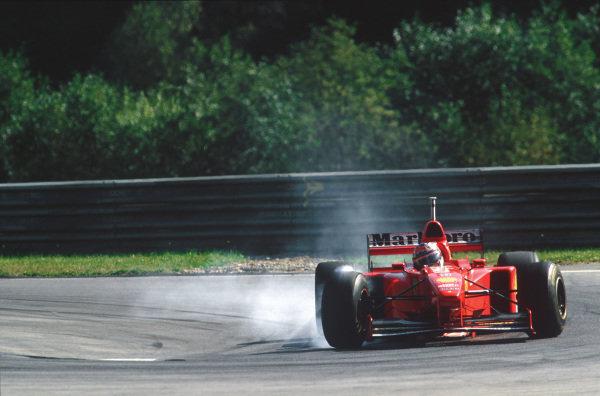 A1-Ring, Zeltweg, Austria. 19-21 September 1997. Michael Schumacher (Ferrari F310B) 6th position, action.  World Copyright: LAT Photographic. Ref:  97 AUT 09.