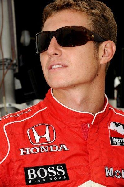 Ryan Briscoe (AUS) Team Penske.IndyCar Series, Rd15, Peak Anti Freeze 300, Chicagoland Speedway, Joliet, Illinois, USA, 29-30 August 2009.