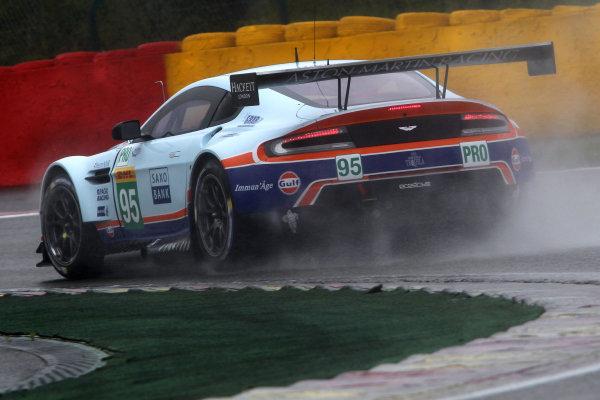 2015 FIA World Endurance Championship, Spa-Francorchamps, Belgium. 30th April - 2nd May 2015. Christoffer Nygaard / Marco Sorensen Aston Martin Racing Aston Martin Vantage V8. World Copyright: Ebrey / LAT Photographic.