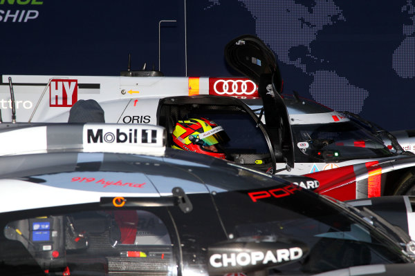 2015 FIA World Endurance Championship, Spa-Francorchamps, Belgium. 30th April - 2nd May 2015. Benoit Treluyer Audi Sport Team Joest Audi R18 e-tron quattro.  World Copyright: Ebrey / LAT Photographic.