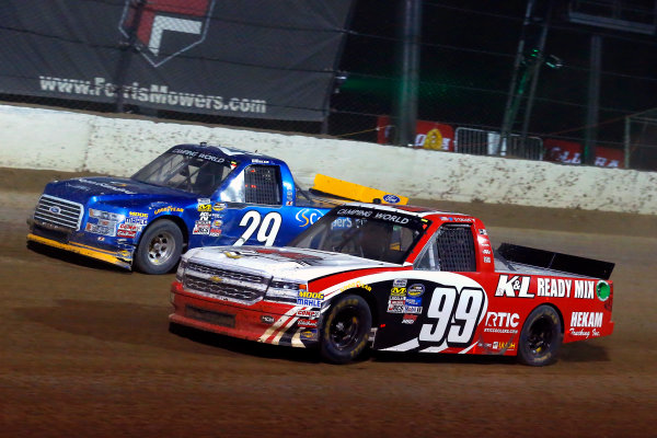 NASCAR Camping World Truck Series Eldora Dirt Derby Eldora Speedway, Rossburg, OH USA Wednesday 19 July 2017 Ty Dillon, K&L Ready Mix Chevrolet Silverado and Chase Briscoe, Cooper Standard Ford F150 World Copyright: Russell LaBounty LAT Images