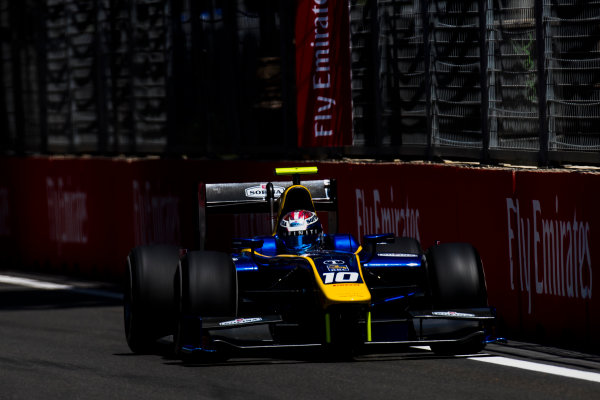 2017 FIA Formula 2 Round 4. Baku City Circuit, Baku, Azerbaijan. Friday 23 June 2017. Nicholas Latifi (CAN, DAMS)  Photo: Zak Mauger/FIA Formula 2. ref: Digital Image _54I9771