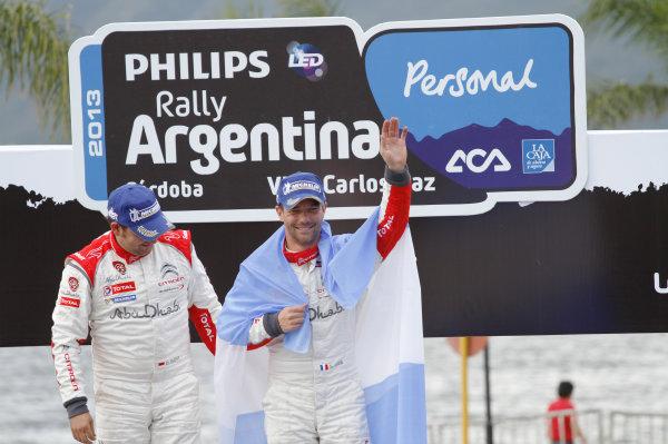 2013 World Rally Championship Rally Argentina 1st - 4th May 2013 Sebastien Loeb, Daniel Elena, Citroen, podium Worldwide Copyright: McKlein/LAT