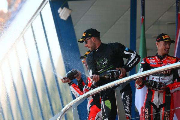 2017 Superbike World Championship - Round 12  Jerez, Spain. Sunday 22 October 2017 Podium: Jonathan Rea, Kawasaki Racing World Copyright: Gold and Goose Photography/LAT Images ref: Digital Image 701219