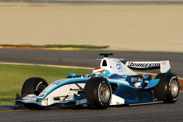 Adrian Campos (ESP) drives the new 2008 GP2 car. GP2 Series, Rd 11, Race 2, Valencia, Spain, Sunday 30 September 2007.