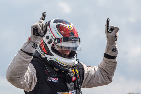 28-31 July, 2016, Lexington, Ohio USA Michael Cooper celebrates after winning at Mid-Ohio. ?2016, Brian Cleary LAT Photo USA