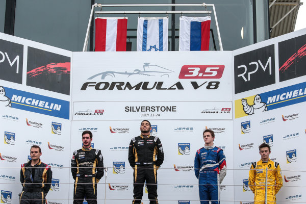 SILVERSTONE (GBR) JUL 22-24 2016 - International GT Open and Formula V8 3.5 round at Silverstone Circuit.Podium of Race 2. Action. © 2016 Diederik van der Laan  / Dutch Photo Agency / LAT Photographic