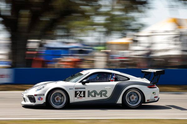 2017 Porsche GT3 Cup USA Sebring International Raceway, Sebring, FL USA Friday 17 March 2017 24, Jake Eidson, GT3P, USA, 2017 Porsche 991 World Copyright: Jake Galstad/LAT Images ref: Digital Image lat-galstad-SIR-0317-14687