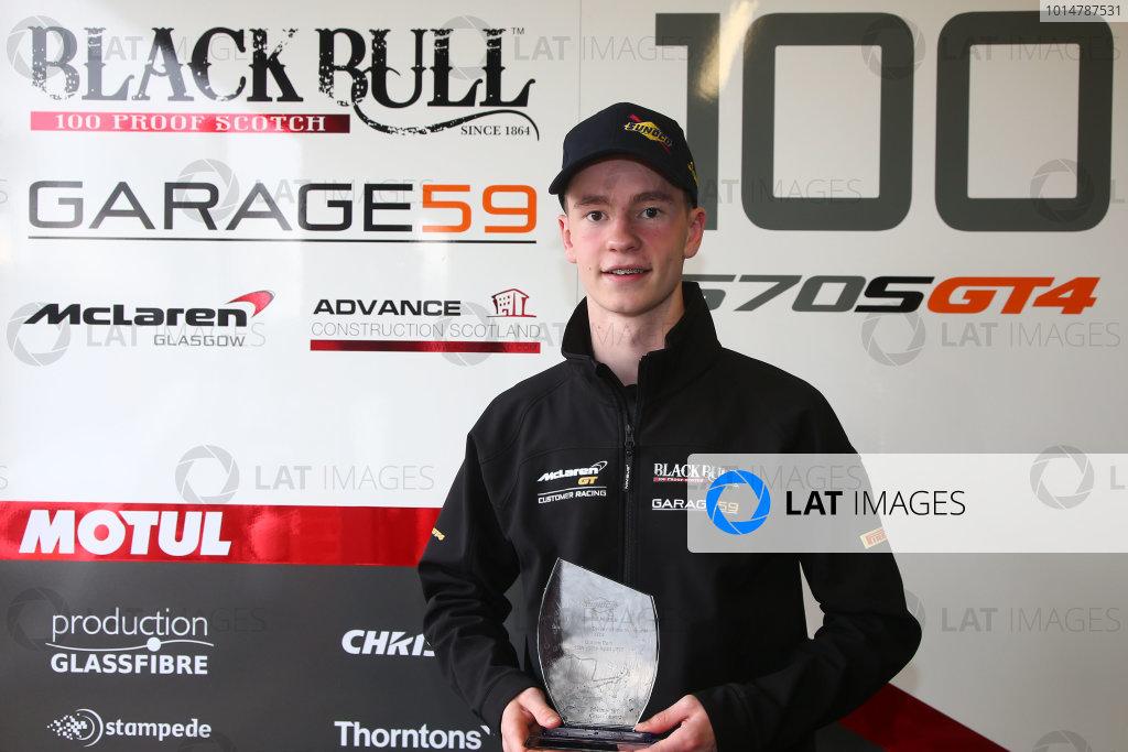 2017 British GT Championship, Oulton Park, 15th-17th April, 2017, Sandy Mitchell - Sunoco Fastest Lap  World copyright. JEP/LAT Images
