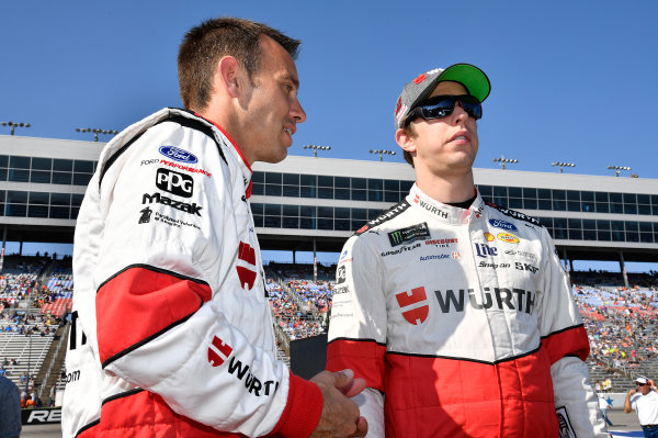 Monster Energy NASCAR Cup Series AAA Texas 500 Texas Motor Speedway Fort Worth, TX USA Sunday 5 November 2017 Brad Keselowski, Team Penske, Wurth Ford Fusion and Paul Wolfe World Copyright: Rusty Jarrett LAT Images