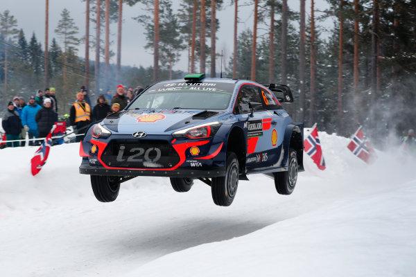 2018 FIA World Rally Championship, Round 02, Rally Sweden 2018, February 15-18, 2018. Hayden Paddon, Hyundai, action, Worldwide Copyright: McKlein/LAT